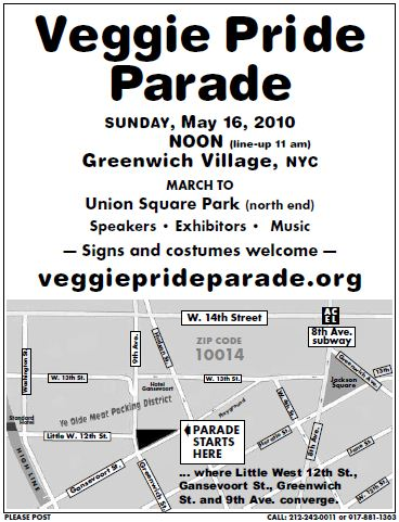 Veggie Pride Parade 2010 Map
