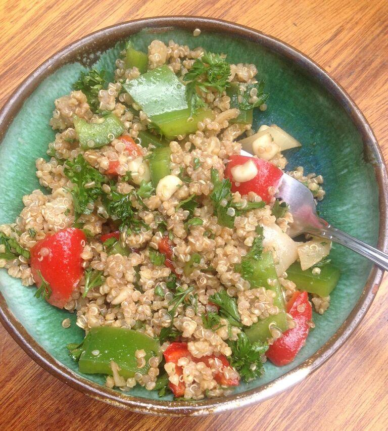Pepper Quinoa-Millet Salad