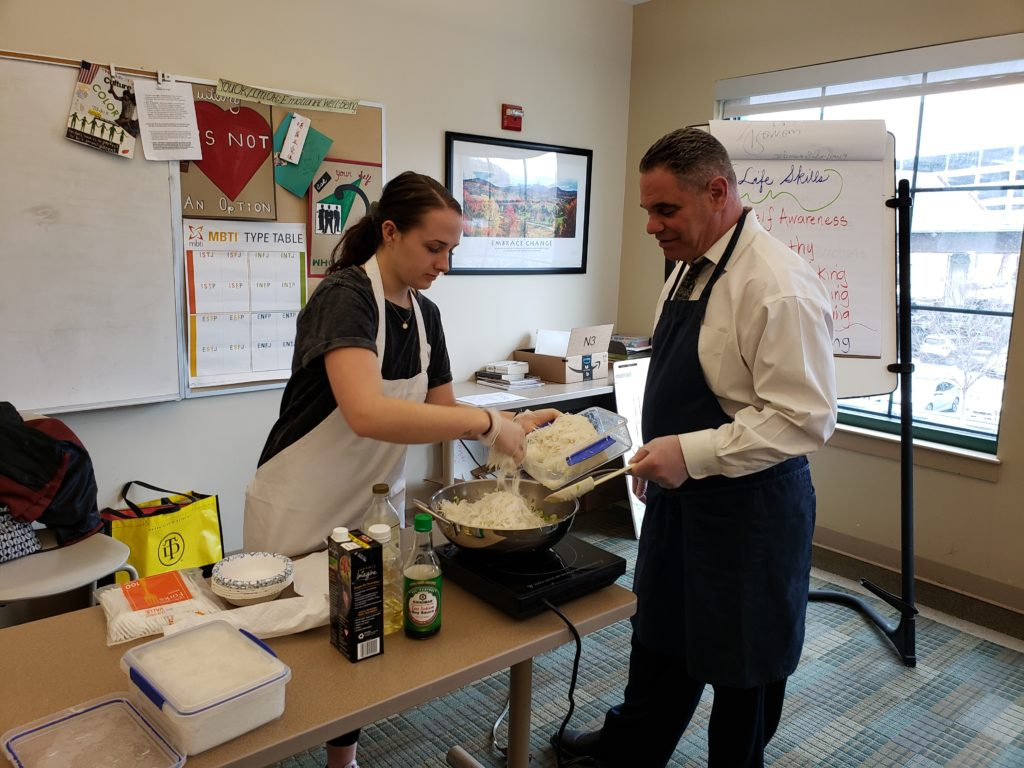 Teaching a Vegan Cooking Class at Christopher's Place in Baltimore, MD