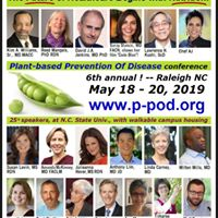 SCHOLARSHIPS FOR PLANT-BASED PREVENTION OF DISEASE CONFERENCE Sat., May 18 – Mon. May 20, 2019, Raleigh NC